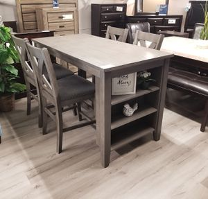 $579 WE DELIVER! BRAND NEW GREY LOVELY DINING SET for Sale in Oviedo, FL