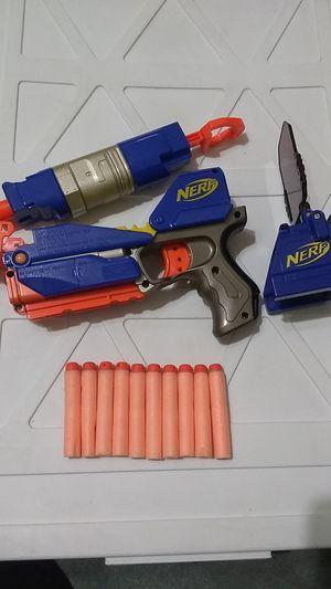 Nerf gun switch shot ex-3 w/16 darts for nintendo wii nerf game for Sale in Alexandria, VA