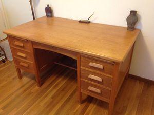 """1956 solid oak desk 34x60x30 1/2"""" - $300 (La mesa) for Sale in La Mesa, CA"""