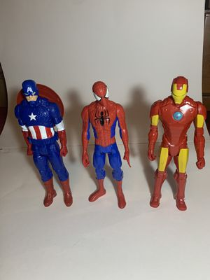 12 in Marvel Action Figures - Iron Man, Captain America, SpiderMan for Sale in McDonald, PA