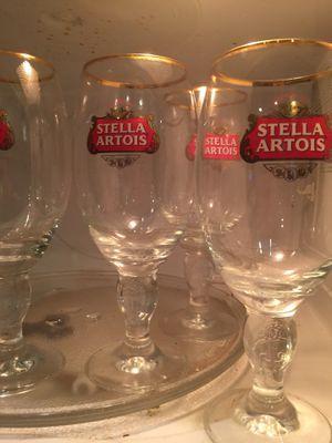 Four Stella Artois collectible glasses for Sale in Miami, FL