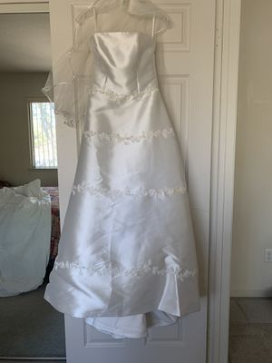 Wedding dress and veil for Sale in San Ramon, CA