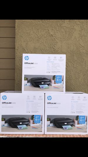 BRAND NEW SEALED OFFICE 5212 JET ALL-IN ONE WIRELESS COLOR INKJET PRINTER-INTANT INK READY FRIM $100 EACH for Sale in Fontana, CA
