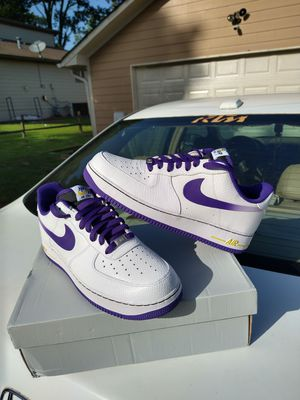 Read description first.$150 local pick up Size 11 only Rare 2014 Nike Air Force 1 low Snakeskin Lakers Kobe Bryant for Sale in Norcross, GA