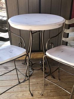Indoor Nice Iron & Wood Tall Table & Ethan Allen Chairs for Sale in Nashville,  TN