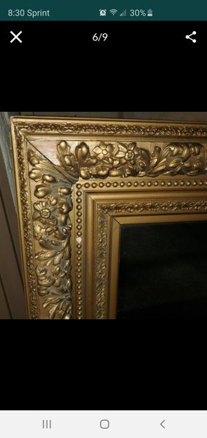 Antique Framed Mirror by Thomas A. Wilmurt Mid 19th Century for Sale in Santee, CA
