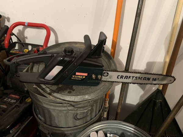 "Chainsaw - electric craftsman 16"" bar"