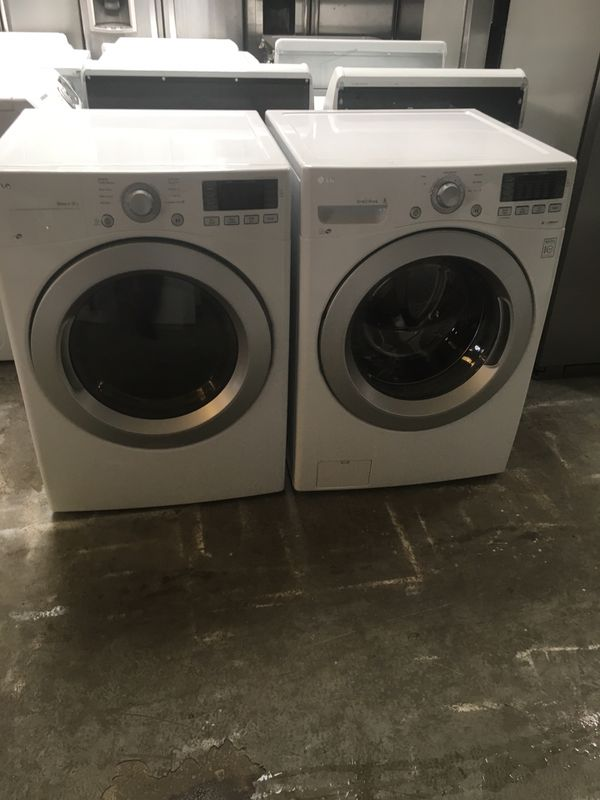 Set washer and dryer brand LG electric dryer everything is good working condition 90 days warranty delivery and installation