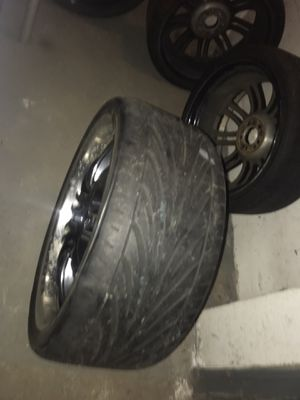 5 lugs 20 inch rims with 4 tires including rims for Sale in West Haven, CT