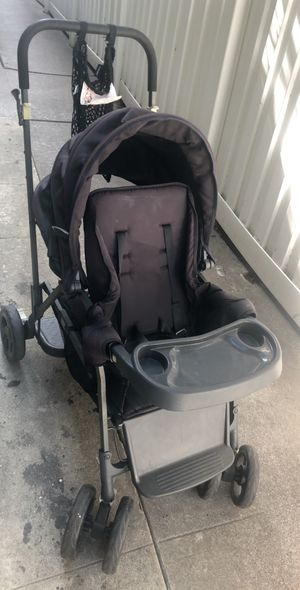 Joovy caboose stand on double stroller, black. Asking $45 for Sale in Santa Monica, CA