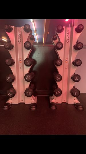 Weight rack plus dumbbells for Sale in Portland, OR
