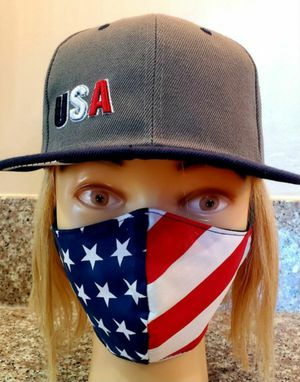 USA FLAG MASK (MEN) AND RED LADY BUG (WOMEN) FACE MASK FOR KATHY for Sale in Norwalk, CA