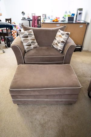 Arm Chair and Ottoman for Sale in North Potomac, MD