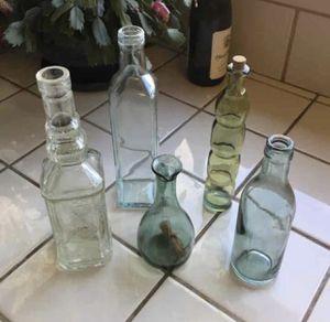 VTG Colored Glass Bottles for Sale in Bremerton, WA