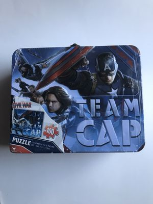 BRAND NEW SEALED CAPTAIN AMERICA MARVEL CIVIL WAR LUNCH PAIL W/ PUZZLE for Sale in Torrance, CA