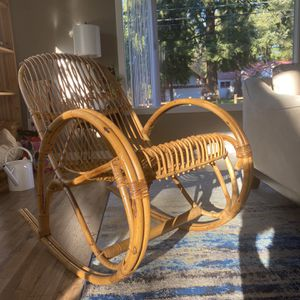 Vintage Rattan Bamboo Rocking Chair for Sale in Redmond, WA