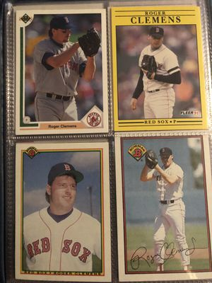 Two Books of Roger Clemens baseball cards for Sale in Franklinton, NC
