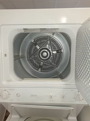 🔥🔥 washer and electric dryer stackable in excellent condition 90 days warranty 🔥🔥 for Sale in Mount Rainier, MD