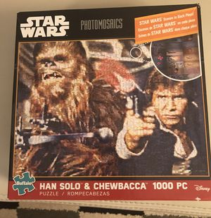 Buffalo Games Star Wars Photomosaic Han Solo and Chewbacca 1000 pc Puzzle for Sale in Mableton, GA