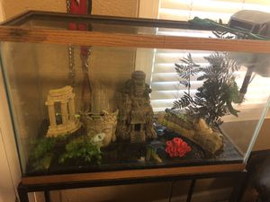 Fish tank with accessories for Sale in Tampa, FL