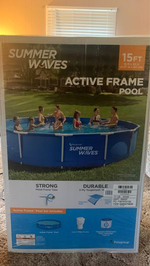 Summer waves active frame pool 15ft for Sale in Elmira, NY