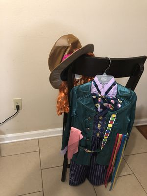 "Disney store ""Mad Hatter "" Halloween costume. Size 7/8 for Sale in Denham Springs, LA"