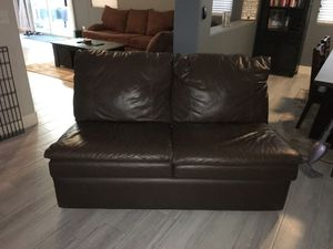 Leather couch piece for Sale in Henderson, NV