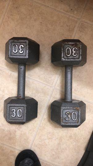 30lb dumbbells for Sale in Houston, TX