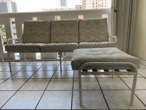 Patio Sofa with ottoman/ sofa para patio con otomano. for Sale in Hialeah, FL