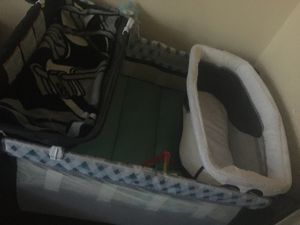 Bed and Playpen set , with changing table for Sale in Washington, DC