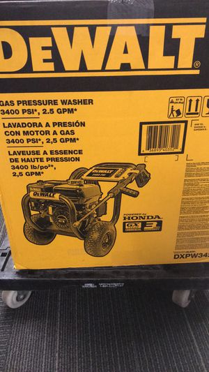 Dewalt 3400 psi power washer for Sale in New Britain, CT