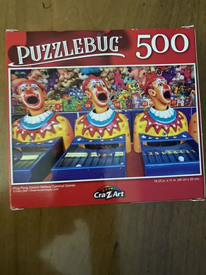Puzzlebug Clowns Midway games 500 puzzle for Sale in Lake Forest, CA