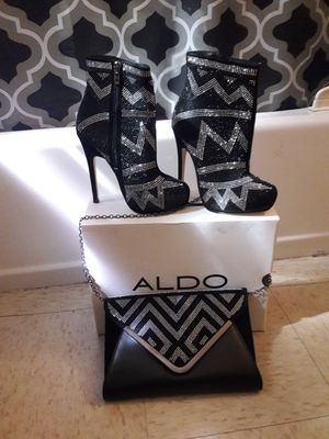 ALDO stilettos ankle boots with purse size 6 for Sale in Boston, MA