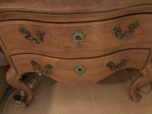 2 beautiful wood and granite end tables for Sale in Delray Beach, FL
