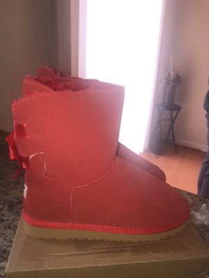 Red Ugg Boots With Bows. In US - Size 9 for Sale in Germantown, MD