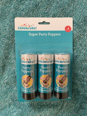 Celebrate! Super Party Poppers (3 ct) for Sale in Ithaca, NY