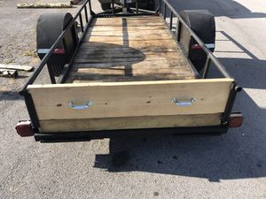 5x12ft Heavy Duty Utility Trailer / Wood bed w removable tailgate / steel ramps for Sale in Forest Hills, TN