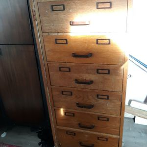 Wood Filing Cabinet With Metal Drawers for Sale in Lake Forest Park, WA