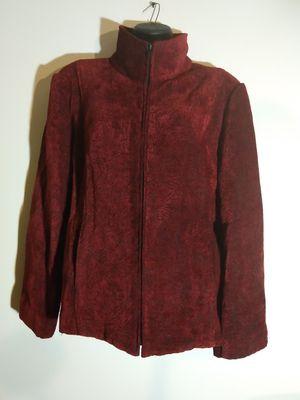 Size XL Burgundy wine Blazer jacket high neck for Sale in Takoma Park, MD