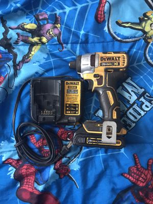 Dewalt xr brushless impact drill one battery and charger for Sale in Garner, NC