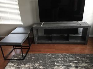 Tema TV stand and 2 side tables for Sale in Crofton, MD