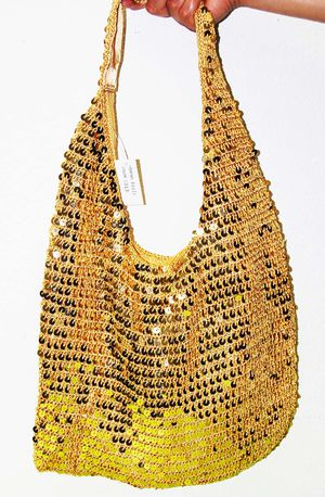 Gold sequin hand bag for Sale in Jurupa Valley, CA
