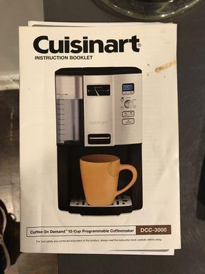 Cuisinart Coffee Maker for Sale in Washington, DC
