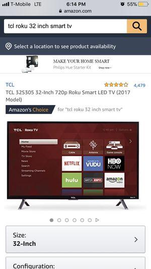 """Tcl roku smart tv 32"""" for Sale in Phoenix, AZ"""