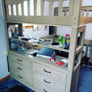 FULL SIZE bunk bed with dresser and desk for Sale in Brunswick, OH
