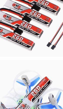 GAONENG 260mAh 1S Battery 3.8V/4.35V 30C FPV HV for Sale in Annandale,  VA