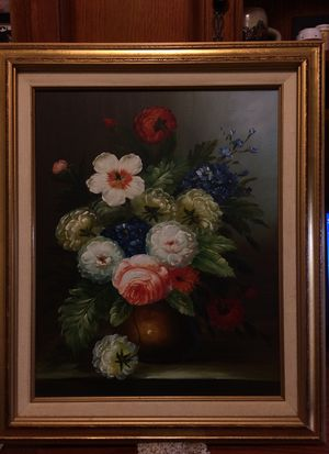 """Floral oil on canvas painting 25""""X 21"""" for Sale in Franklin, MA"""