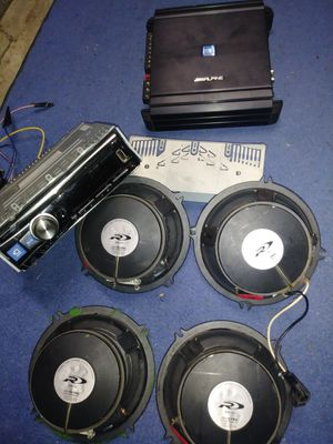 Alpine lovers audiophile set up!!!! Super loud! for Sale in Indianapolis, IN