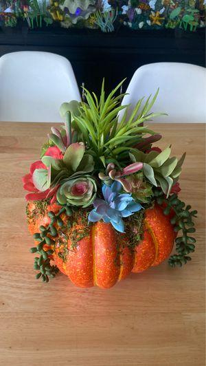 Faux Pumpkin with Succulents for Sale in Phoenix, AZ