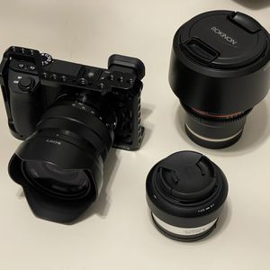 Sony a6500 4K Kit with 30mm, 85mm, 10-18mm for Sale in Frisco, TX
